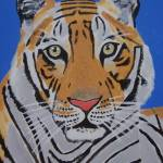 """TIGER IN BLUE"" by Eamonreillydotcom"
