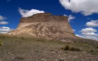 Butte and Blue Sky