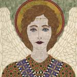 """""Byzantine Angel""  fabric mosaic"" by RemnantWorks"