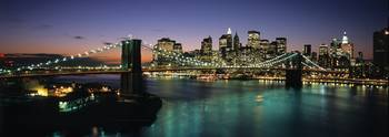 Lower Manhattan and Brooklyn Bridge Panorama