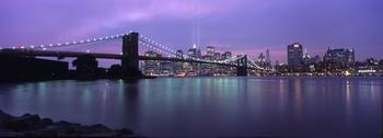 9/11 Light Tribute Panorama