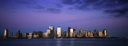 Lower Manhattan dusk Panorama