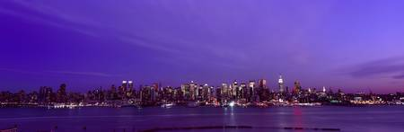 Midtown Manhattan dusk Panorama