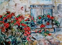 Flowers behind the house - MagdalenaArt