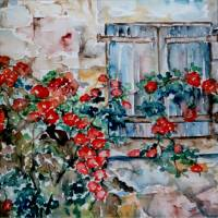 Flowers behind the house - MagdalenaArt Art Prints & Posters by Magdalena Schotten