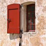 """Windows and Doors 3 in Red and Yellow, France"" by mjphoto-graphics"