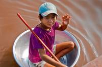 Portrait Boy-Tonie Sap Lake,Cambodia, purple