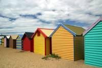 Brighton Bathing Boxes, Melbourne, Australia