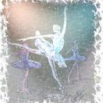 """Ballerina Trio In Snow"" by cynthia"