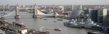 View from Monument over Tower Bridge
