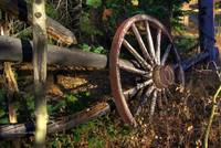 wagon wheel/fence
