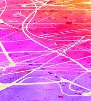 Purple, pink, red, yellow and orange abstract wate