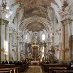 """Nave of the Basilica of the Fourteen Holy Helpers"" by schmaeche"