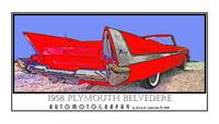 1958 Plymouth Fury Belvedere Convertible - Red