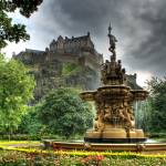 """Ross Fountain, Edinburgh Castle"" by HeatherCampion"