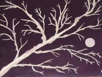 (sold) tree in fall in moon light