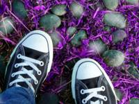 Purple and Converse