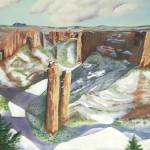 """Canyon de Chelly Arizona in Winter"" by BarbaraAnneApplegate"
