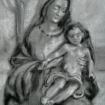 """Madonna & Child Sketch"" by laudate"