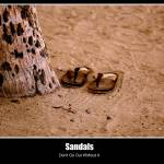 """Sandals in the sand"" by bogelo"