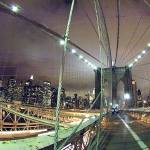 """brooklyn bridge at night another view"" by DennisFox"