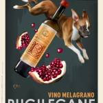 """Pugilecane Vino Melagrano"" by OtisNewVintage"