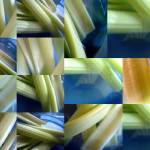 """celery in a blue bowl 1"" by LOUISEDIONNE"
