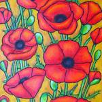 """""Poppies"" Crop 1"" by LisaLorenz"