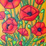 """""Poppies"" Crop 2"" by LisaLorenz"