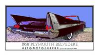 1958 Plymouth Fury Belvedere Convertible - Black