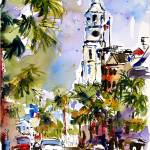 """St Michaels Church Charleston Watercolor by Ginett"" by GinetteCallaway"