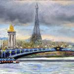 """Paris Pont Alexandre III"" by shevchukart"