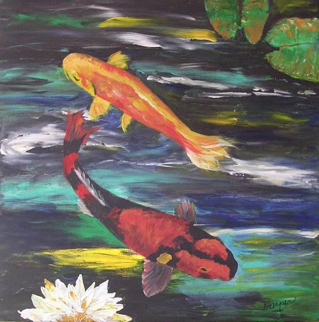 Stunning koi fish artwork for sale on fine art prints for Hi utsuri koi for sale