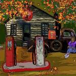 """Old Service Station"" by GloryT"