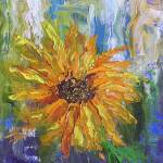 """Sunflower abstract"" by BarbaraHarper"