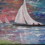 """Sailboats at Sunrise"" by BarbaraHarper"