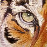 """""Tiger Tiles"" Watercolor Mosaic by Paul Jackson"" by PaulJacksonArt"