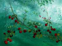 Berries in Ethereal Setting
