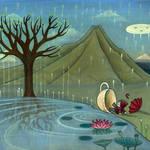 """TreeRootingInTheLake"" by kaori"