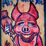 """killer pig"" by AMWart"