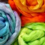 """Hand-Dyed Wool Roving"" by confections"