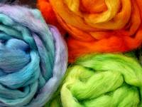 Hand-Dyed Wool Roving