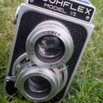 """Ricohflex Model VII Vintage Camera"" by confections"