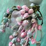 """Vintage Velvet Japanese Millinery Rosebuds (three)"" by confections"