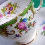 """Mismatched Tea Cup and Saucer"" by confections"