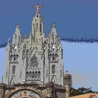 Barcelona church on a hill
