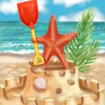 """Starfish Beach Fun"" by shariwarren"