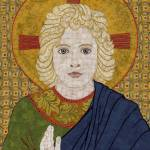 """""Christ Child""  fabric mosaic (detail)"" by RemnantWorks"