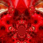"""Abstract Art Red Stage"" by shanmaree"