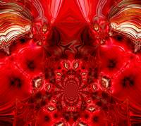 Abstract Art Red Stage